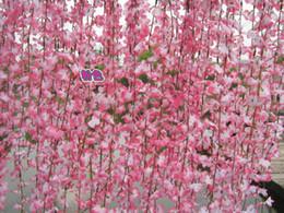 Wholesale Artificial Flower Strings - silk flower vines Simulation Cherry Blossom vine artificial flowers rattan string wedding home decorations fake flower vine 33 MYY8364