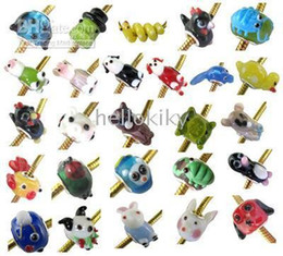 Wholesale Mixed Colour Charms - 100 PCS MIXED COLOURS LOOSE GLASS ANIMAL BEADS fit charm bracelet #19201