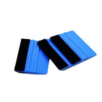 Wholesale Car Wrap Squeegee - Car Vinyl Film wrapping tools Blue color 3M Scraper squeegee with felt edge size 10cm*7cm free shipping