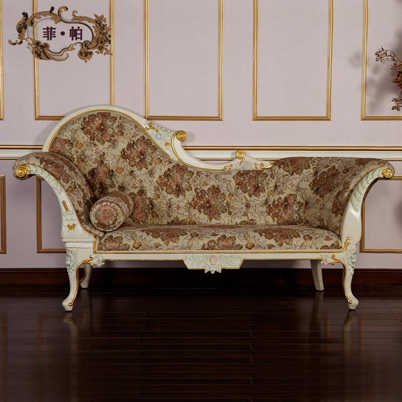 Antique Hand Carved Wood Furniture,luxury Royalty Solid Wood Handcraft  Chaise Lounge Free Shipping