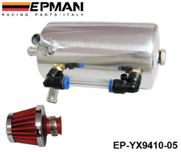 Wholesale Breather Catch Tank - EPMAN High Quality UNIVERSAL BREATHER TANK & OIL CATCH CAN TANK WITH BREATHER FILTER 0.5L EP-YX9410-05