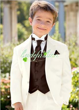 صنع العرف الشحن مجانا الصبي الأبيض مناسبة للأطفال الزفاف بدلة الزفاف الأولاد بزي