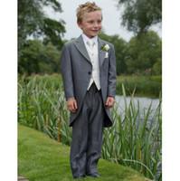 trajes de bebé azul bodas al por mayor-La moda del envío libre se adapta a la ocasión formal de los niños del diseñador completo (chaqueta + pantalones + chaleco + corbata)