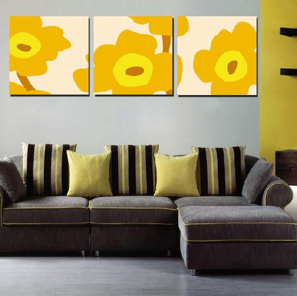 2018 Modern Wall Painting Yellow Flower Abstract Picture Wall Art ...