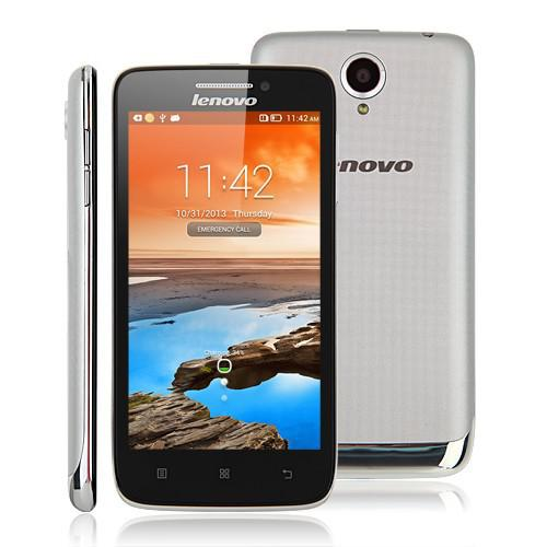 Lenovo S650 Cellphone MTK6582 Quad Core 1.3GHz 1G RAM 8GB ROM Dual SIM Cards Android 4.2 Bluetooth WiFi GPS Smartphone with Touch Screen