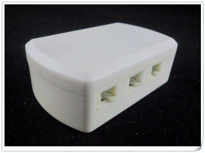 10st 6 sätt LED Distributor Box med 5,5 * 2,1mm Kvinna DC-uttag JST Kvinna VH-kontakt för under skåp LED-lampor