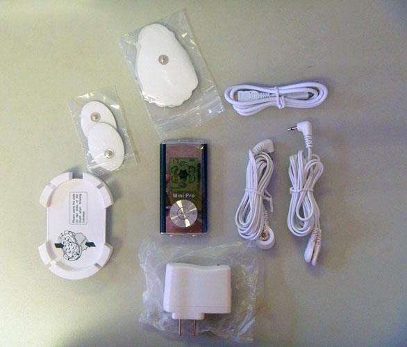 6つのモード、携帯用低周波のミニマッサージャー、スリミング燃焼脂肪軽量マッサージャー6個/ロットの電子デジタルパルスマッサージャー
