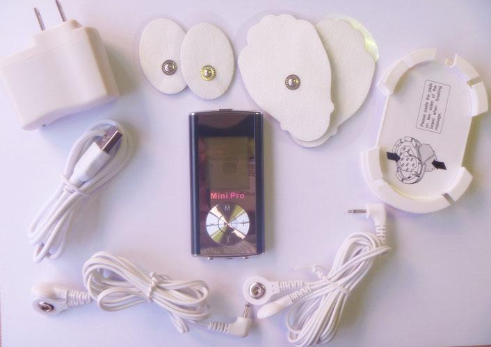 6つのモード、携帯用低周波のミニマッサージャー、スリムな燃やした脂肪を減らした軽量マッサージDHL /ロットの電子デジタルパルスマッサージャー