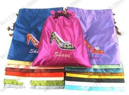 Silk Drawstring Shoe Bags NZ - New Design Silk Brocade Drawstring Bags For Storing Shoes   Tights Fashion Gift 36x28cm MYY8380