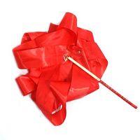Wholesale Ribbon Batons - S5Q 4M Gym Dance Ballet Ribbon Rhythmic Art Gymnastic Streamer Baton Twirling Rod AAAAZY