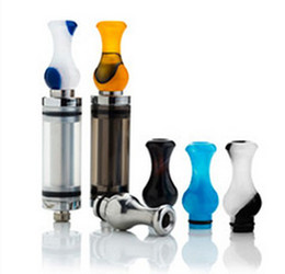 Wholesale ming drip tips - Acrylic Dynasty ming Gourd 510 drip tips Colorful celluloid cherry vape mouthpiece