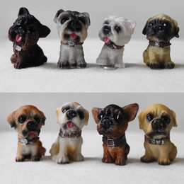 Wholesale Dog Magnets - 20*25*35mm 12 Simulation Dog Fridge Magnets Resin Dog Craft Magnetic Stickers Home Decoration 12pcs lot FM114