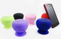 Wholesale Wholesale Silicone Iphone Speakers - mini Bluetooth Speaker MIC Voice Box Mushroom Speakers Hands Free Silicone Sucker Waterproof for iPhone iPad Samsung Galaxy