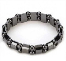 Wholesale Wholesale Magnetic Hematite - Wholesale -10pcs Black Magnetic Hematite Beads Magnetic Hematite Therapy Bracelets Lg 12mm   Pain Relief