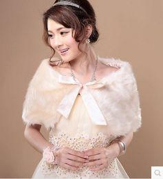 Wholesale Champagne Bridal Fur Shawl - Hot new Bridal shawl wedding dress bridesmaid dress shawl new winter warm wool shawl wool shawl 905