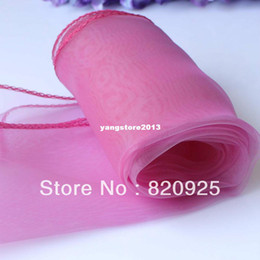 10 pcs Nouveau Rose Rose Sheer Organza Table Runner De Fête De Mariage Décoration Fourniture ? partir de fabricateur