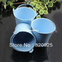 cajas del favor de la boda azul al por mayor-Envío gratis 10 unids Mini cubo de color caja del favor del banquete de boda regalo cubos caramelo azul