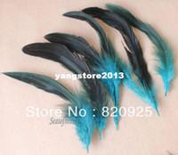Wholesale Craft Masks Wholesale - 100Pcs New Blue Color Pheasant Feathers for DIY Craft Mask Hat Millinery Decor