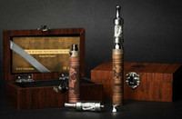Cheap wood e cigarette mod starter kit with ego twist vv battery and