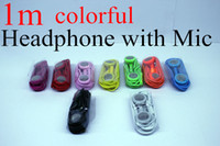 Wholesale Iphone4s Headphones - Earphone for Iphone 4 4s 5 5s 3.5mm Headphone with MIC Color Headset Earbuds for iphone4s Ipod Itouch