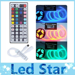 Wholesale Newest DC 12V 44 keys IR remote RGB LED controller best for 3528 5050 smd led lights strip
