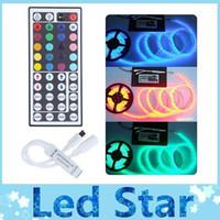 Wholesale Ir Key - Best 44 Keys IR remote RGB controller for 3528 5050 led strips light DC 12V 3*2 A 5m led strips