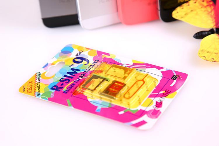 Mais recente R-SIM 9 RSIM9 R-SIM9 Pro Perfeito SIM Desbloquear cartão Oficial IOS7.1, 7.0.6 ios 7 RSIM 9 para iphone 4S 5 5S 5C GSM CDMA WCDMA 3G / 4G gpp