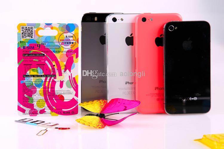 Originale R-SIM 9 RSIM9 R-SIM9 PRO SIM perfetto SIM CARD Sblocca ufficiale IOS 7 7.0.6 7.1 IOS7 RSIM 9 iPhone 4S 5 5S 5C GSM CDMA WCDMA 3G / 4G