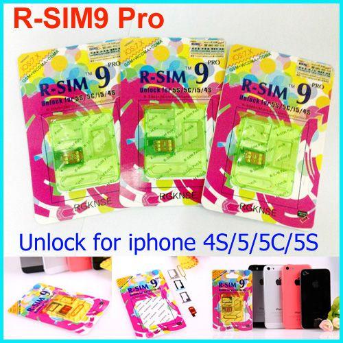R-SIM 9 RSIM9 R-SIM9 Pro Tarjeta SIM perfecta Desbloquear Oficial IOS 7.0.2 7.1 ios 7 RSIM 9 para iphone 4S 5 5S 5C GSM CDMA WCDMA 3G 4G