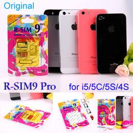 Canada 100% d'origine R-SIM 9 RSIM 9 Débloquer tous les iPhone5S 5C 5G 4S RSIM9 pro IOS 7 IOS7 7.0.1 7.0.2 7.1 RSIM 9 PRO Docomo AU Sprint Verizon T-MOBILE Offre