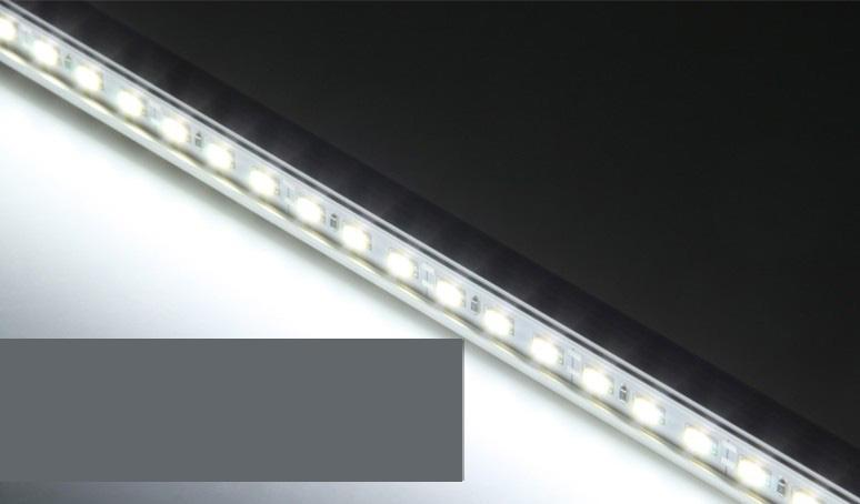"""100X Hard LED Strip 5630 SMD Cool White Warm White Rigid Bar 72 LED Bar Light Strip With """"u"""" Style Shell Housing With End Cap DHL"""