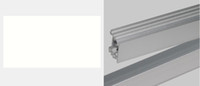 """Wholesale Holiday Housing - 50X Hard Rigid Bar """"u"""" Style Shell Housing With End Cap For LED Strip DHL ship"""