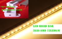 mavi led şerit 1m toptan satış-50X 1M Sert LED Şerit 5630 SMD Kırmızı Yeşil Mavi Sıcak Beyaz Sert Bar 72 LED Şerit Işık Ile