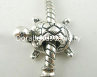 Wholesale Silver Tone Metal Charms - Free Shipping! 20 PCs Silver Tone Turtle Charms Beads Fit Charm Bracelets 19x13mm (B03793) jewelry making DIY findings