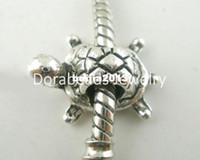 joyas de cuentas de tortuga al por mayor-¡Envío gratis! 20 piezas de plata del tono de la tortuga encantos de los granos Fit pulseras del encanto 19x13mm (B03793) joyería que hace los resultados de DIY
