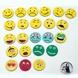 $enCountryForm.capitalKeyWord NZ - Dia 3cm Multiple Expression Color Magnetic Stickers Lovely Smile Round Fridge Magnets Children Gift 20pcs lot FM107