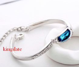 Wholesale Austrian Crystal Bracelet Swarovski - New design Deluxe free shipping pretty 18K gold plated K fashion charm Austrian Crystal Swarovski Elements Bracelet AB2