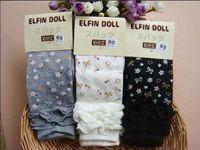 Wholesale Little Girl Leggings Wholesale - Girl Leggings Children Clothes Frill Botton Little Flower Ninth pants For Girl