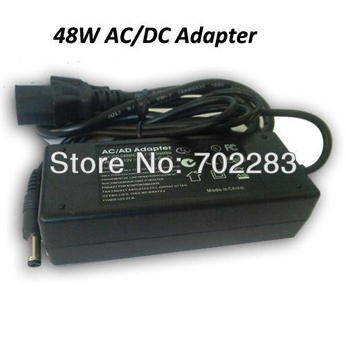 6pcs 100-240V CA à 12V CC 4A 48W Adaptateur CA / CC de style de table, Transformateur pour bandes lumineuses led Entrée 100-240V CA, Sortie 12V CC