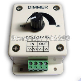 24v dc dimmer switch NZ - 10pcs 12V DC 8A 96W Knob Switch LED Dimmer Controller for Single Color constant voltage LED Lights with CE ROHS