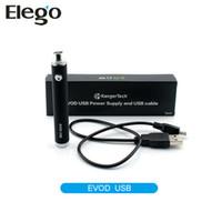 Wholesale Atomizer Usb - Original Kanger Evod USB Battery Kangertech Evod USB Passthrough Battery 650mAh 1000mAh Fit For ego Atomizers