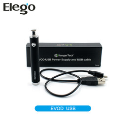 Wholesale Passthrough For Ego - Original Kanger Evod USB Battery Kangertech Evod USB Passthrough Battery 650mAh 1000mAh Fit For ego Atomizers