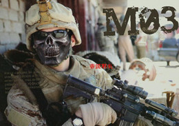 Wholesale Skull Skeleton Army Airsoft - Free ship, Skull Skeleton Army Airsoft Paintball Gun Full Face Game Protect Safe Mask, Army of Two Light Skull Face Mask CS masks