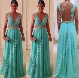 Wholesale Beaded Pageant Dresses For Women - Designer 2014 Elegant Beaded Crystal Cap Sleeves Chiffon Lace Backless Pageant Dresses For Women Formal Dresses Cheap Dresses114C10
