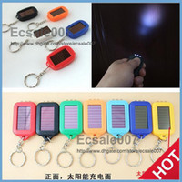 Wholesale Solar Powered Light Key Chains - Cute Model Solar Power Keychain LED Flashlight Light Lamp Mini Key Chain 3 LED Multi-color Rechargeable DHL Free Shipping
