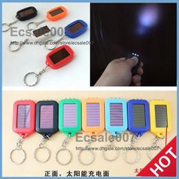 $enCountryForm.capitalKeyWord Canada - Cute Model Solar Power Keychain LED Flashlight Light Lamp Mini Key Chain 3 LED Multi-color Rechargeable DHL Free Shipping