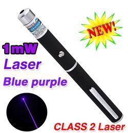 Wholesale Purple Laser Pen - High Quality 1mW 405nm Blue laser Pointer pen Powerful Light Beam Blue purple Laser Pointer Pen