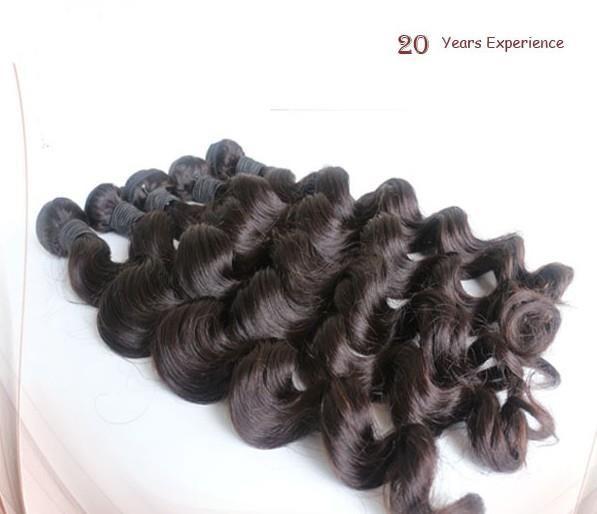 Nuevo grado 5A peruana de la Virgen de la onda suelta 3 Unids / lote Rosa Queen producto del pelo 100% del cabello humano teje envío gratuito