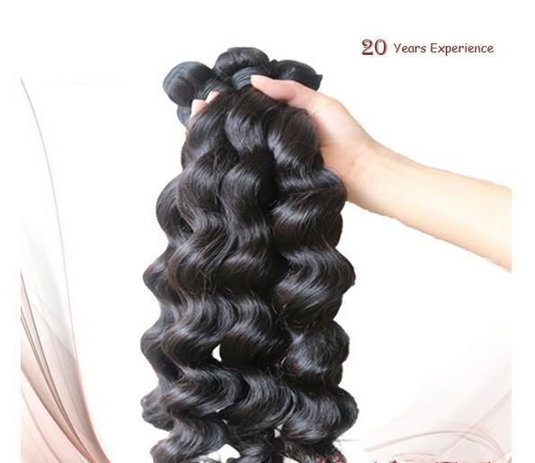 عالية الجودة 5a فضفاض موجة 100٪ بيرو عذراء ريمي الشعر البشري 100 جرام / قطع اللون # 1b # 1 نفس طول أو مزيج طول dhl مجانا في الأسهم