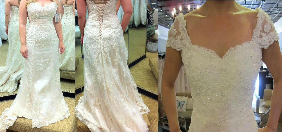 A Line Wedding Gown With Sleeves: Discount Detachable Cap Sleeves Emma Wedding Dresses 13533